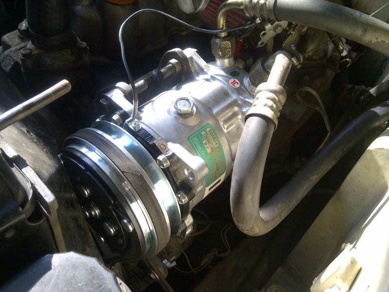 Sanden 508 compressor in Land rover