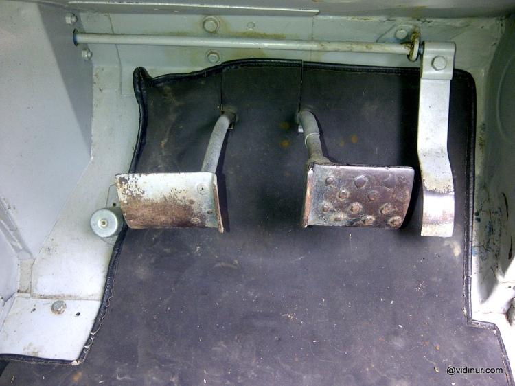 Three pedals